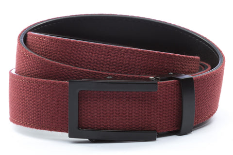 1-25-quot-traditional-buckle-in-black 1-25-quot-crimson-canvas-strap