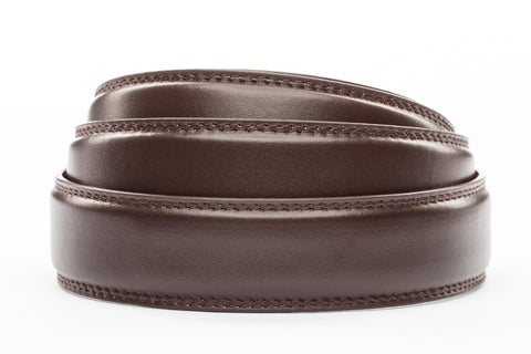 "**FACTORY SECOND** 1.25"" Dark Brown Leather Strap - Anson Belt & Buckle"