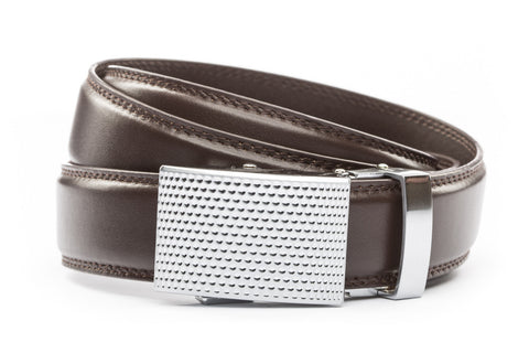 1-25-quot-anson-golf-buckle-in-silver 1-25-quot-dark-brown-leather-strap