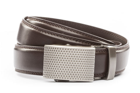 1-25-quot-anson-golf-buckle-in-gunmetal 1-25-quot-dark-brown-leather-strap