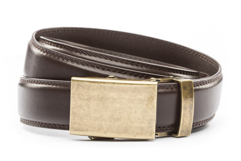 1-25-quot-classic-buckle-in-antiqued-gold 1-25-quot-dark-brown-leather-strap