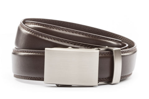 1-25-quot-classic-buckle-in-gunmetal 1-25-quot-dark-brown-leather-strap