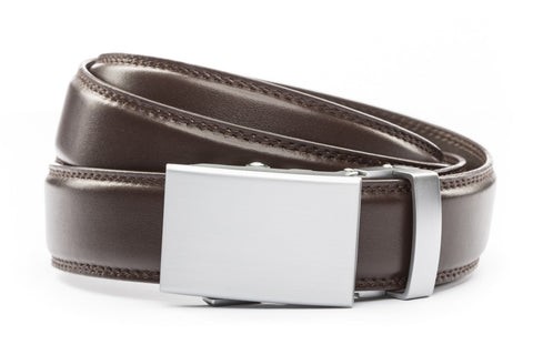 1-25-quot-classic-buckle-in-silver 1-25-quot-dark-brown-leather-strap