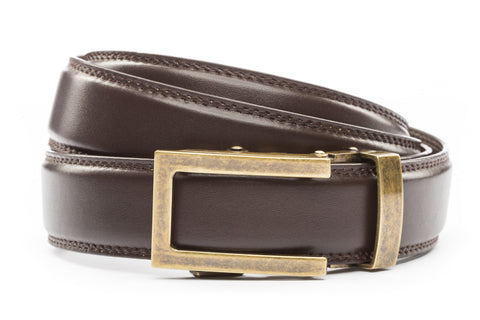 1-25-quot-traditional-buckle-in-antiqued-gold 1-25-quot-dark-brown-leather-strap