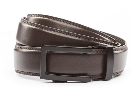 1-25-quot-traditional-buckle-in-black 1-25-quot-dark-brown-leather-strap