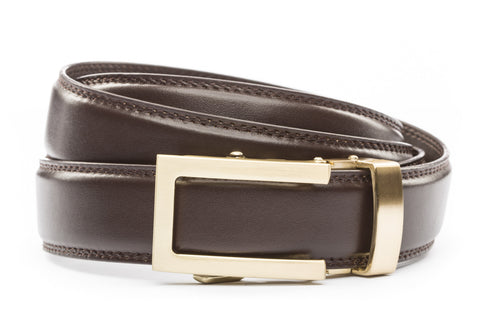 1-25-quot-traditional-buckle-in-gold 1-25-quot-dark-brown-leather-strap