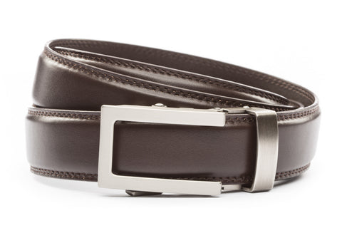 1-25-quot-traditional-buckle-in-gunmetal 1-25-quot-dark-brown-leather-strap