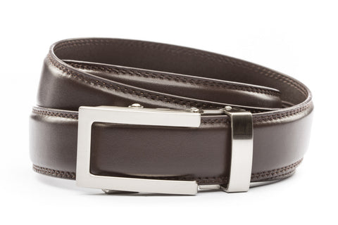 1-25-quot-traditional-buckle-in-silver 1-25-quot-dark-brown-leather-strap