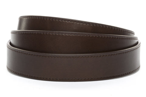 "1.25"" Espresso Vegetable Tanned Leather Strap - Anson Belt & Buckle"