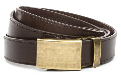 1-25-quot-classic-buckle-in-antiqued-gold 1-25-quot-espresso-vegetable-tanned-leather-strap