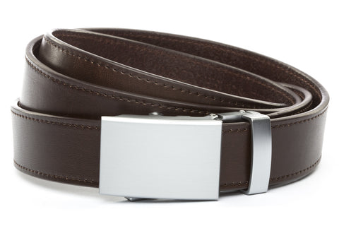 1-25-quot-classic-buckle-in-silver 1-25-quot-espresso-vegetable-tanned-leather-strap