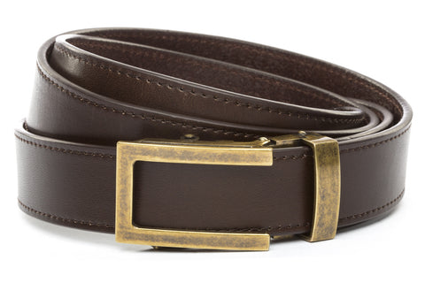 1-25-quot-traditional-buckle-in-antiqued-gold 1-25-quot-espresso-vegetable-tanned-leather-strap