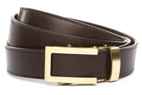 1-25-quot-traditional-buckle-in-gold 1-25-quot-espresso-vegetable-tanned-leather-strap