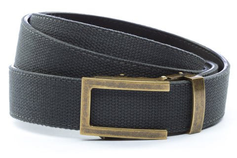 1-25-quot-traditional-buckle-in-antiqued-gold 1-25-quot-graphite-canvas-strap