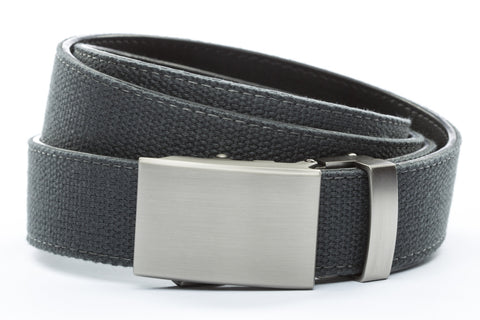 1-25-quot-classic-buckle-in-gunmetal 1-25-quot-graphite-canvas-strap