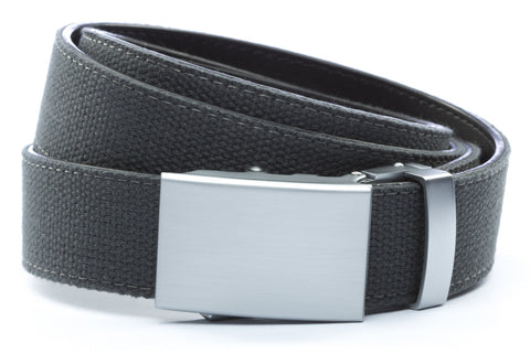 1-25-quot-classic-buckle-in-silver 1-25-quot-graphite-canvas-strap
