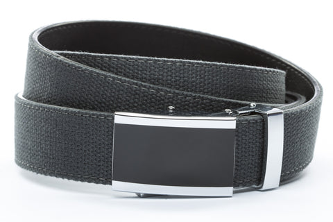 1-25-quot-onyx-buckle 1-25-quot-graphite-canvas-strap