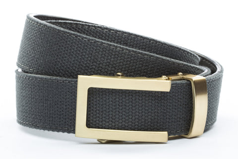 1-25-quot-traditional-buckle-in-gold 1-25-quot-graphite-canvas-strap
