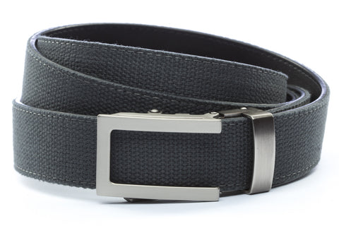 1-25-quot-traditional-buckle-in-gunmetal 1-25-quot-graphite-canvas-strap