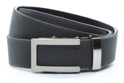 1-25-quot-traditional-buckle-in-silver 1-25-quot-graphite-canvas-strap
