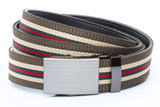 1-25-quot-classic-buckle-in-formal-gunmetal 1-25-quot-green-red-stripe-w-trim-cloth-strap