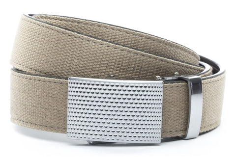 1-25-quot-anson-golf-buckle-in-silver 1-25-quot-khaki-canvas-strap