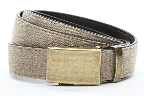 1-25-quot-classic-buckle-in-antiqued-gold 1-25-quot-khaki-canvas-strap