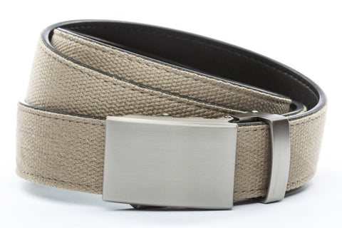 1-25-quot-classic-buckle-in-gunmetal 1-25-quot-khaki-canvas-strap