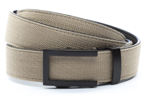 1-25-quot-traditional-buckle-in-black 1-25-quot-khaki-canvas-strap