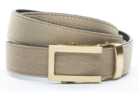 1-25-quot-traditional-buckle-in-gold 1-25-quot-khaki-canvas-strap