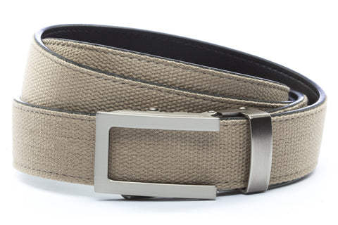 1-25-quot-traditional-buckle-in-gunmetal 1-25-quot-khaki-canvas-strap