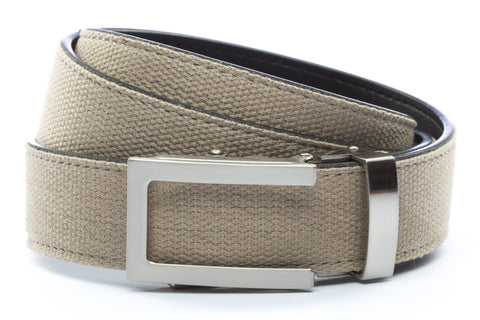 1-25-quot-traditional-buckle-in-silver 1-25-quot-khaki-canvas-strap