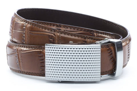 1-25-quot-anson-golf-buckle-in-silver 1-25-quot-light-brown-faux-croc-strap