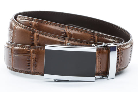 1-25-quot-onyx-buckle 1-25-quot-light-brown-faux-croc-strap