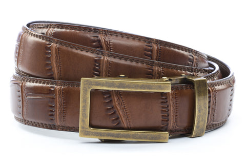 1-25-quot-traditional-buckle-in-antiqued-gold 1-25-quot-light-brown-faux-croc-strap