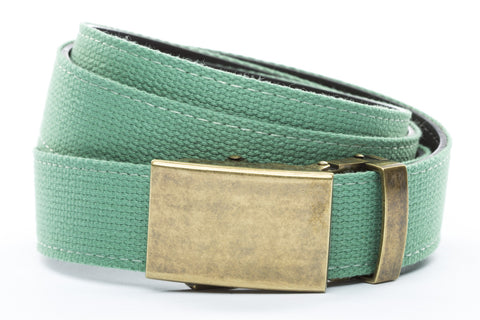 1-25-quot-classic-buckle-in-antiqued-gold 1-25-quot-lime-canvas-strap