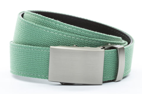 1-25-quot-classic-buckle-in-gunmetal 1-25-quot-lime-canvas-strap