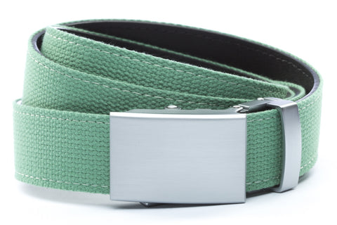 1-25-quot-classic-buckle-in-silver 1-25-quot-lime-canvas-strap
