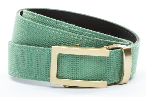 1-25-quot-traditional-buckle-in-gold 1-25-quot-lime-canvas-strap