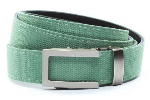 1-25-quot-traditional-buckle-in-gunmetal 1-25-quot-lime-canvas-strap
