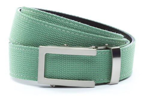1-25-quot-traditional-buckle-in-silver 1-25-quot-lime-canvas-strap