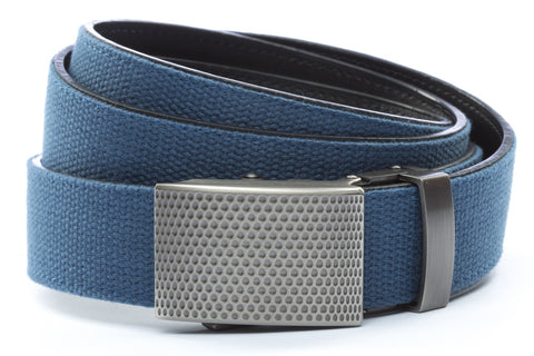 1-25-quot-anson-golf-buckle-in-gunmetal 1-25-quot-marine-blue-canvas-strap