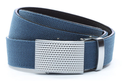 1-25-quot-anson-golf-buckle-in-silver 1-25-quot-marine-blue-canvas-strap