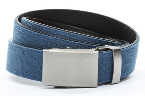 1-25-quot-classic-buckle-in-gunmetal 1-25-quot-marine-blue-canvas-strap