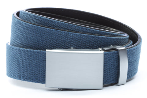 1-25-quot-classic-buckle-in-silver 1-25-quot-marine-blue-canvas-strap