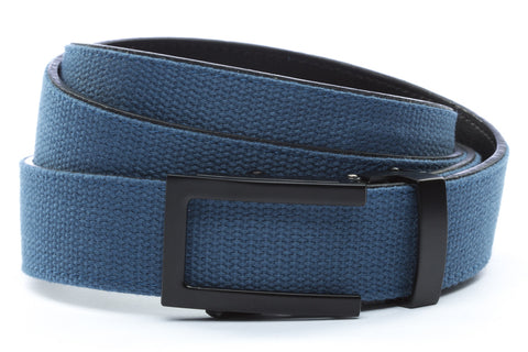 1-25-quot-traditional-buckle-in-black 1-25-quot-marine-blue-canvas-strap