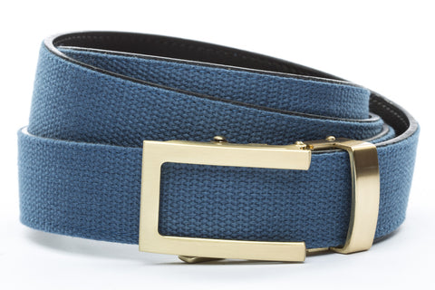 1-25-quot-traditional-buckle-in-gold 1-25-quot-marine-blue-canvas-strap