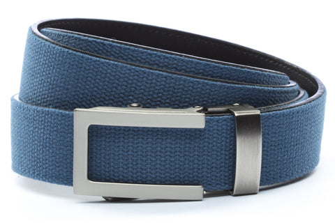 1-25-quot-traditional-buckle-in-gunmetal 1-25-quot-marine-blue-canvas-strap