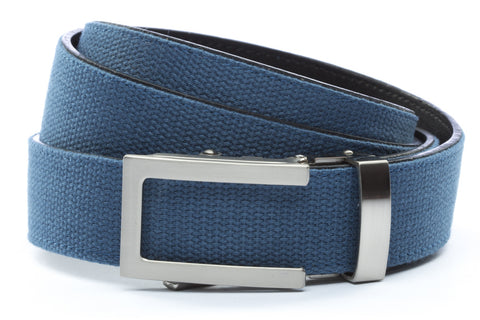 1-25-quot-traditional-buckle-in-silver 1-25-quot-marine-blue-canvas-strap