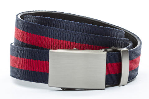 1-25-quot-classic-buckle-in-gunmetal 1-25-quot-navy-red-stripe-cloth-strap